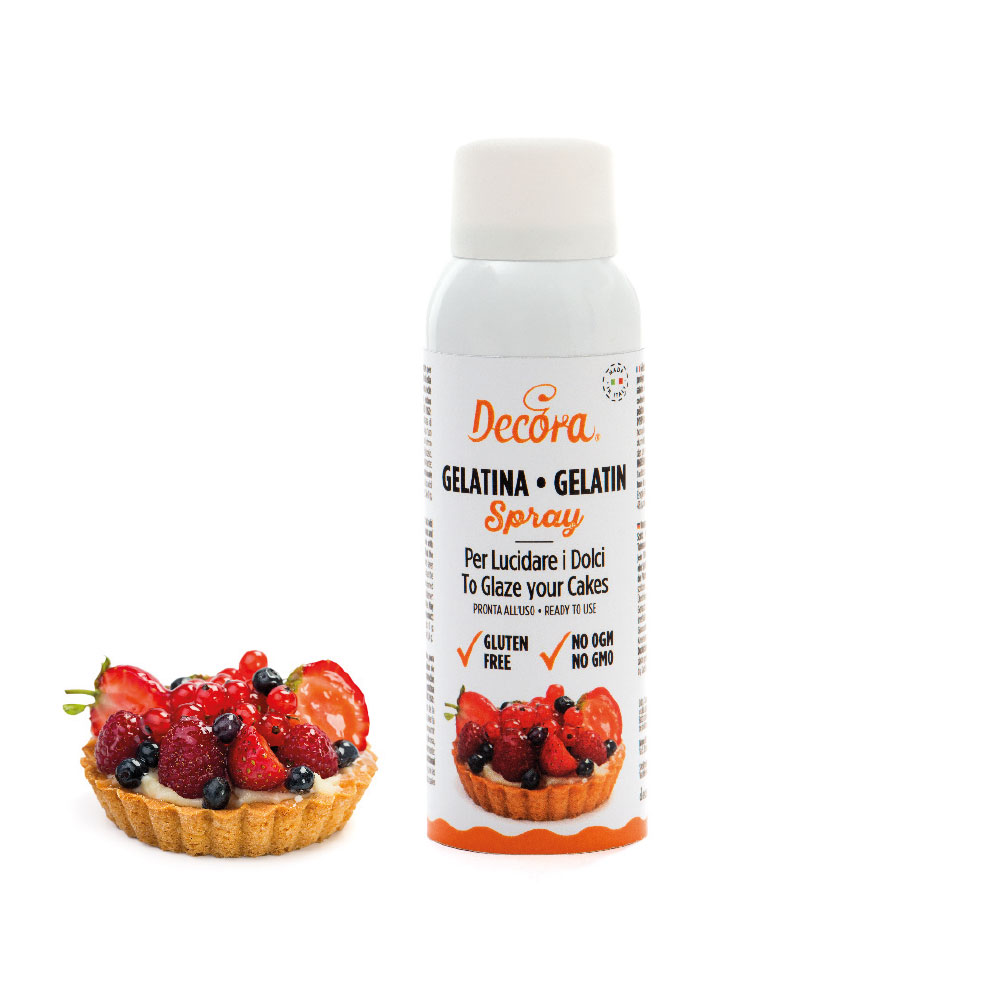 gelatina spray - prodotti per dolci