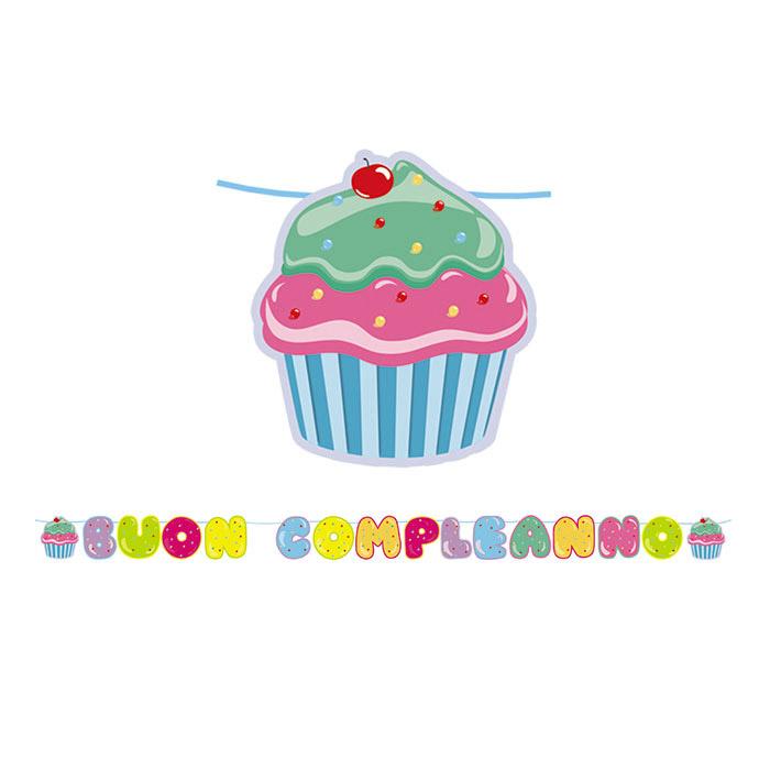 festone buon compleanno - prodotti per dolci